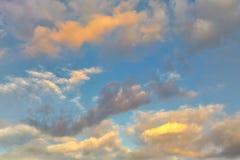 Cielo colorido Fotos de archivo