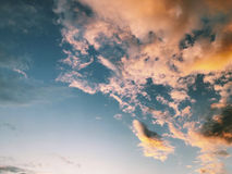 Cielo colorido Imagen de archivo