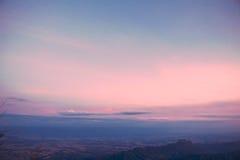 Cielo colorido en el invierno Fotografía de archivo libre de regalías