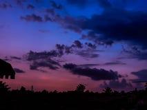 Cielo Colourful di tramonto Fotografie Stock