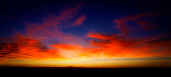 Cielo completamente coloreado Fotos de archivo libres de regalías