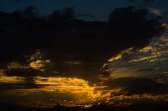 Cielo con color claro del sol Fotografía de archivo