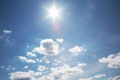 Cielo con el sol Foto de archivo