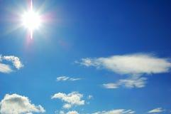 Cielo con el sol Foto de archivo libre de regalías