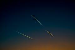 Cielo con gli aerei Fotografie Stock