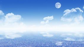 Cielo con il mare (carta da parati di 16:9) fotografia stock
