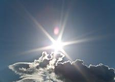 Cielo con il sole Immagini Stock Libere da Diritti