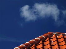 Cielo con il tetto Immagini Stock Libere da Diritti