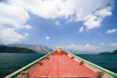 Cielo con la barca Fotografie Stock Libere da Diritti