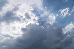 Cielo con la nube Immagini Stock