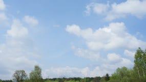 Cielo con la nube Fotos de archivo