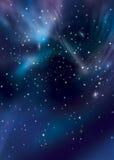 Cielo con las estrellas Fotografía de archivo libre de regalías