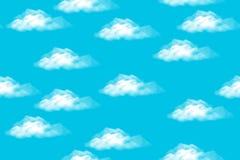 Cielo con las nubes, inconsútiles Foto de archivo libre de regalías