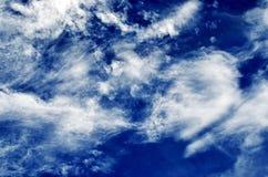 Cielo con le nubi Fotografia Stock