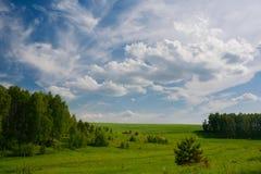 Cielo con le nubi Fotografie Stock Libere da Diritti