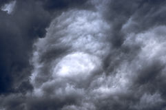 Cielo con le nubi Fotografie Stock
