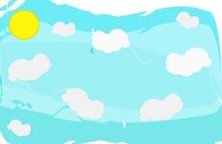Cielo con le nubi ed il sole Fotografia Stock Libera da Diritti
