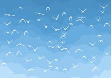Cielo con los pájaros Fotos de archivo