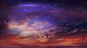 Cielo cosmico Fotografie Stock Libere da Diritti