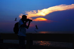 Cielo crepuscolare Fotografia Stock Libera da Diritti