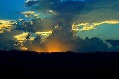 Cielo crepuscular Fotos de archivo