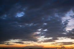 Cielo crepuscular Cielo del diablo Fotos de archivo libres de regalías