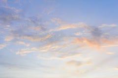 Cielo crepuscular de la puesta del sol Fotografía de archivo