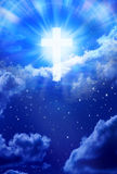 Cielo cruzado Christian God del cielo Foto de archivo