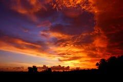 Cielo d'ardore Fotografia Stock Libera da Diritti