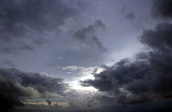 Cielo d'argento Fotografie Stock Libere da Diritti