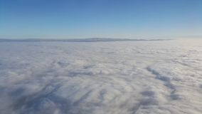 Cielo dall'aereo Fotografia Stock