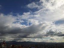 Cielo de Bogotá Imagen de archivo libre de regalías