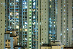 Cielo de Hong-Kong en la noche fotografía de archivo libre de regalías