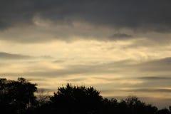 Cielo de la última tarde Fotografía de archivo libre de regalías