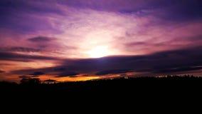 Cielo de la acuarela Foto de archivo