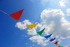 Cielo de la bandera del triángulo Imagen de archivo