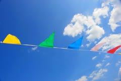 Cielo de la bandera del triángulo Imagen de archivo libre de regalías