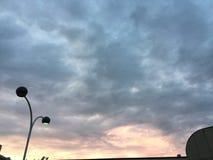 Cielo de la ciudad foto de archivo