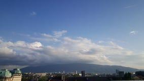 Cielo de la ciudad de Sofía Fotos de archivo