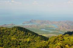 Cielo de la colina del mar de Langkawi Imagen de archivo libre de regalías