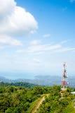 Cielo de la colina del mar de Langkawi Imagenes de archivo