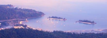 Cielo de la colina del mar de Langkawi Fotos de archivo
