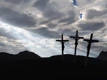 Cielo de la crucifixión y del drame Foto de archivo libre de regalías