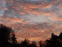 Cielo de la lava Foto de archivo libre de regalías