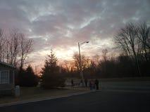 Cielo de la mañana fotografía de archivo libre de regalías