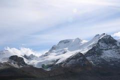 Cielo de la montaña de Athabasca Fotos de archivo