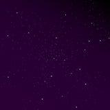 Cielo de la pendiente con el fondo de las estrellas Solución elegante para su diseño Imagen de archivo