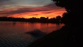 Cielo de la puesta del sol imagenes de archivo