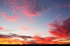 Cielo de la puesta del sol Foto de archivo libre de regalías