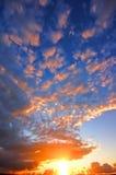 Cielo de la puesta del sol imagen de archivo